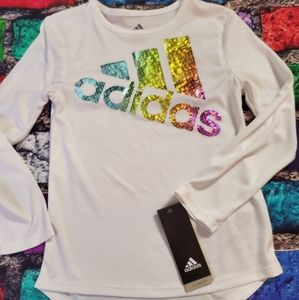 Nwt Adidas top ls girls 5 new